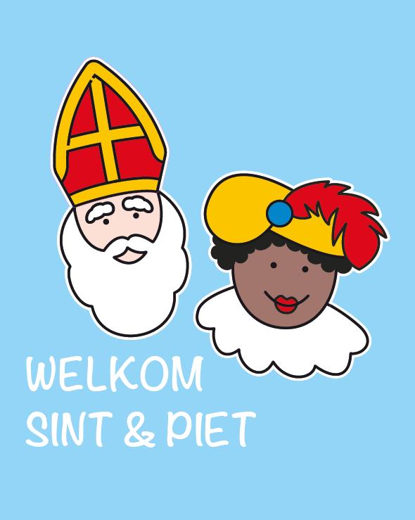 Statische raamstickers Sinterklaas
