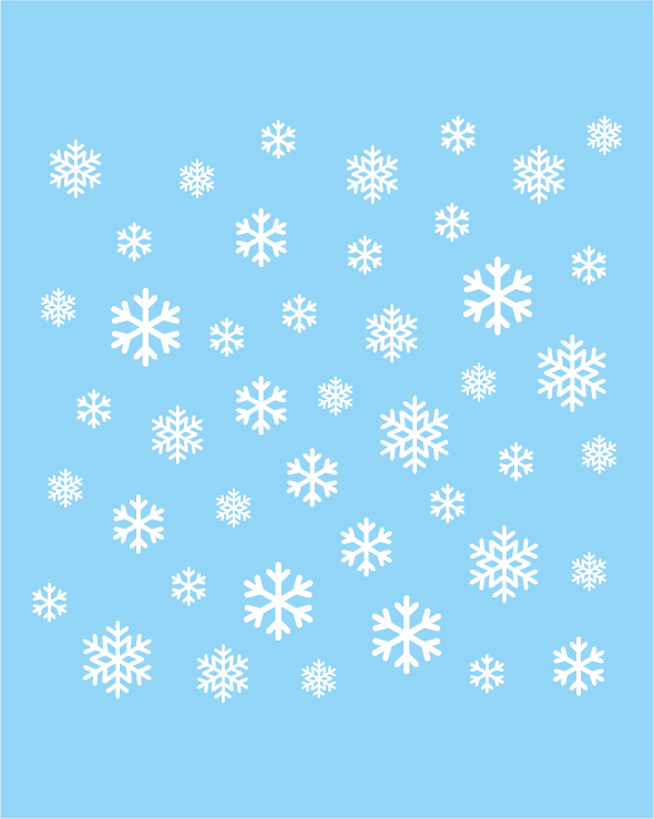 Statische raamstickers winter