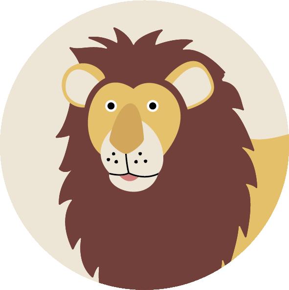 muurcirkel safari leeuw