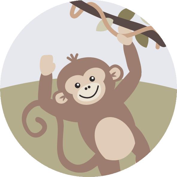 muurcirkel jungla aap