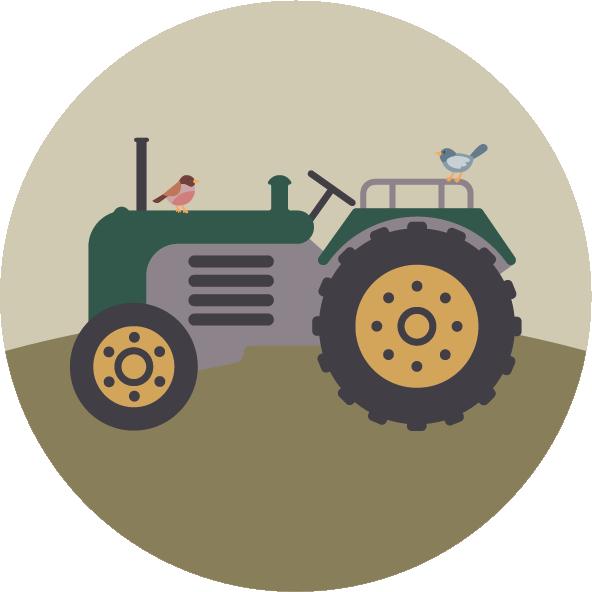 muurcirkels boerderij tractor