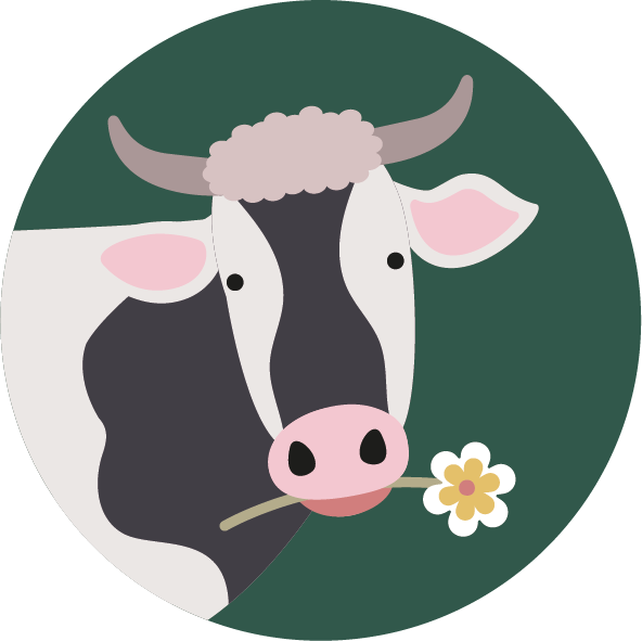 muurcirkel boerderij koe