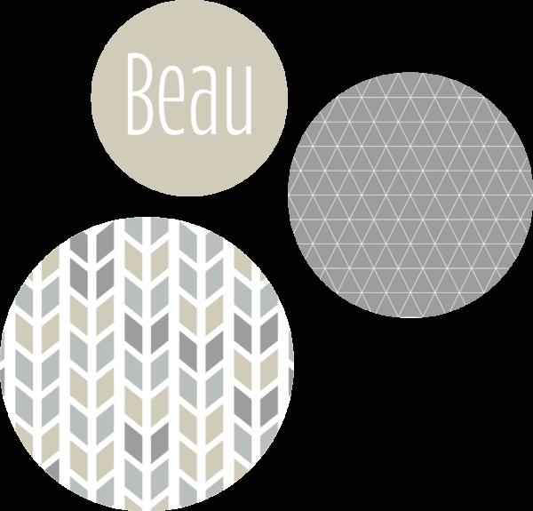 Muurcirkel patroon beige