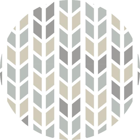 muurcirkel patroon beige ruit