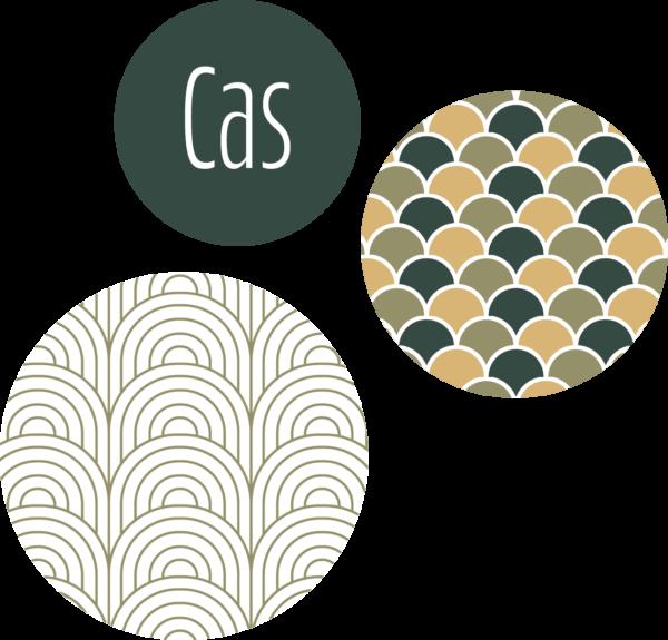 muurcirkel patroon groen