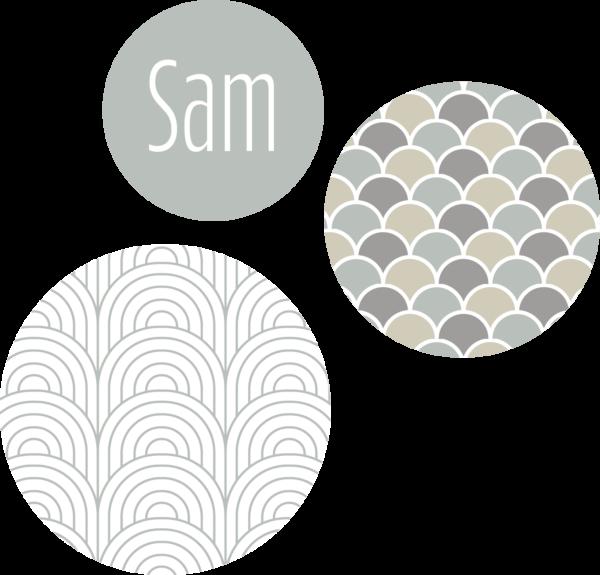 muurcirkel patroon mint
