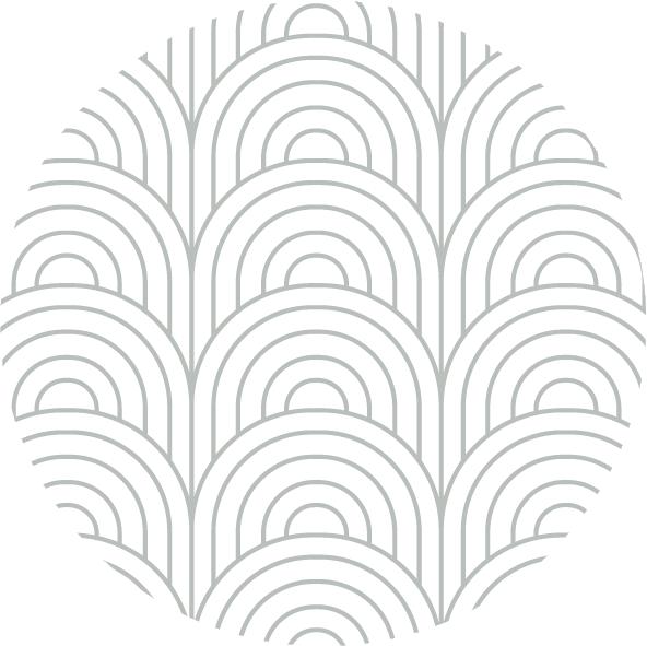 muurcirkel patroon mint boog