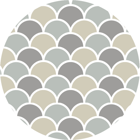 muurcirkel patroon mint schub