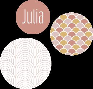 muurcirkel patroon oud roze