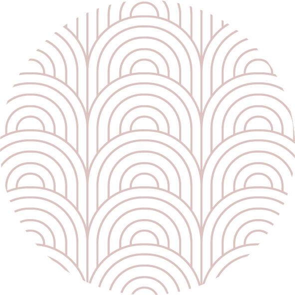 muurcirkel patroon oud roze boog