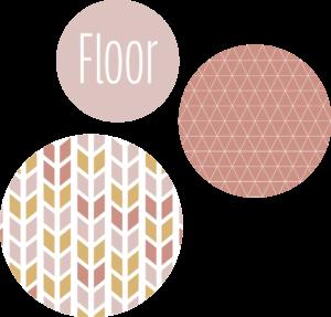 muurcirkel patroon roze