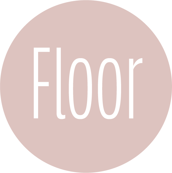 muurcirkel patroon roze naam
