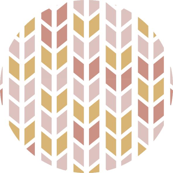 muurcirkel patroon roze ruit