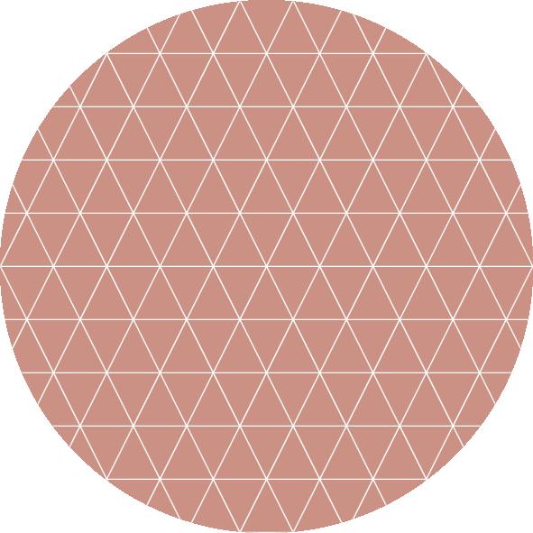 muurcirkel patroon roze wafel