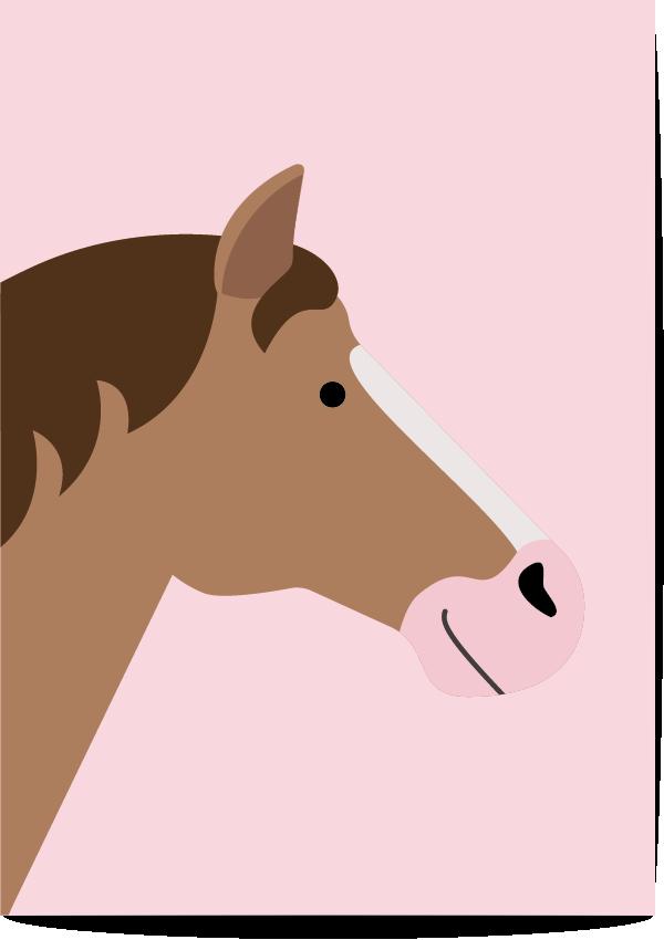 poster paard roze