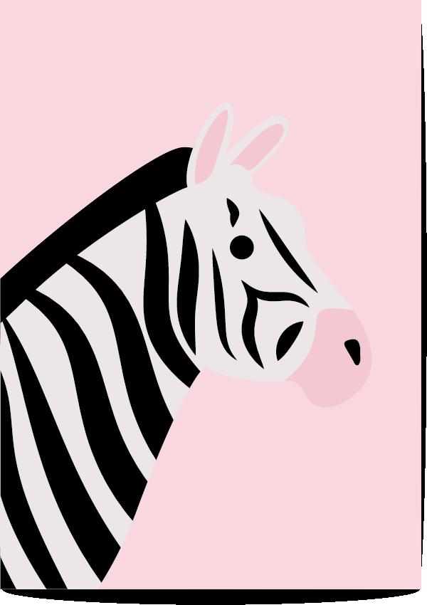 poster zebra roze