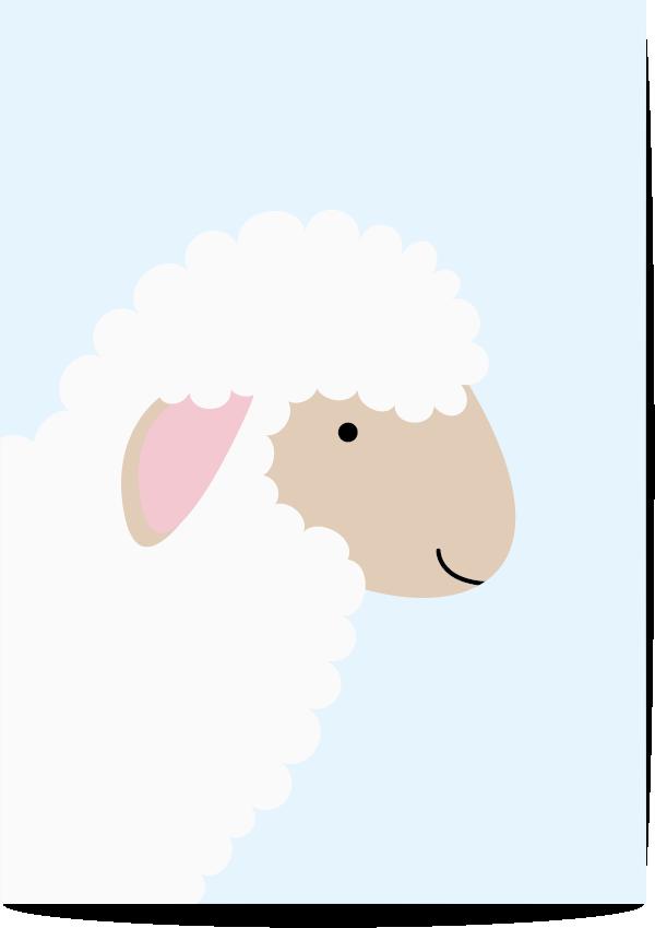 poster schaap blauw