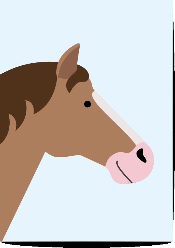 poster paard blauw