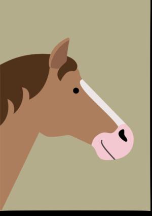poster paard groen