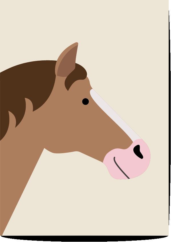 poster paard beige