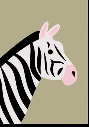 poster zebra groen