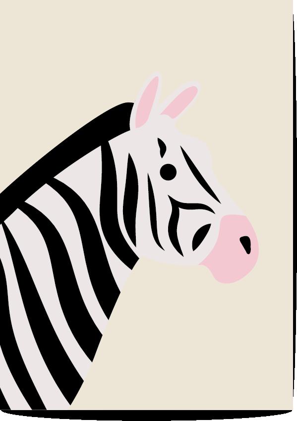 poster zebra beige