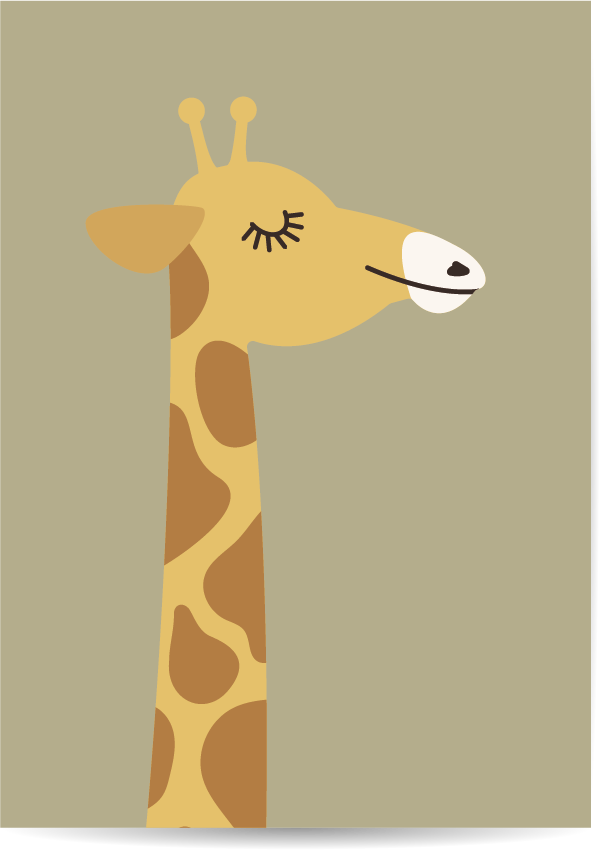 poster giraf groen