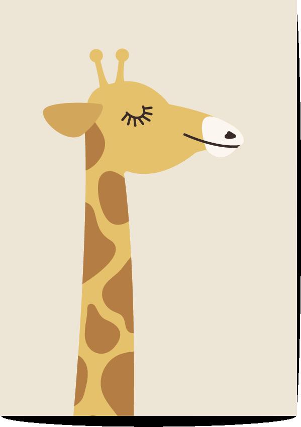 poster giraf beige