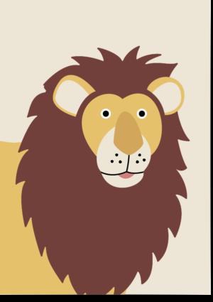 poster leeuw beige
