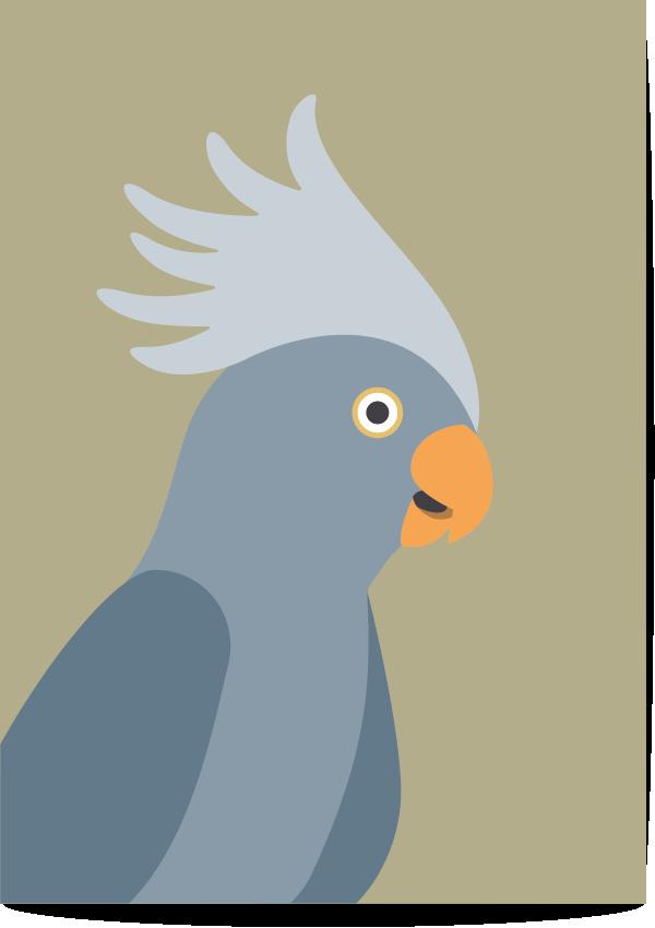 poster kaketoe groen