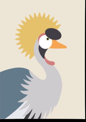 poster kraanvogel beige