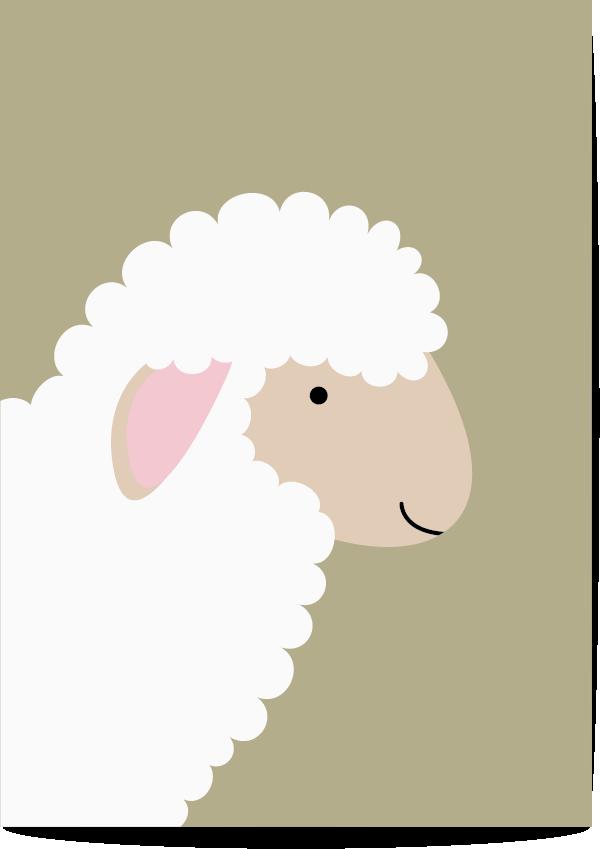 Poster schaap groen